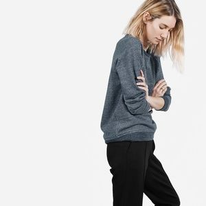 Everlane French Terry Cloth Crewneck in Navy Marl